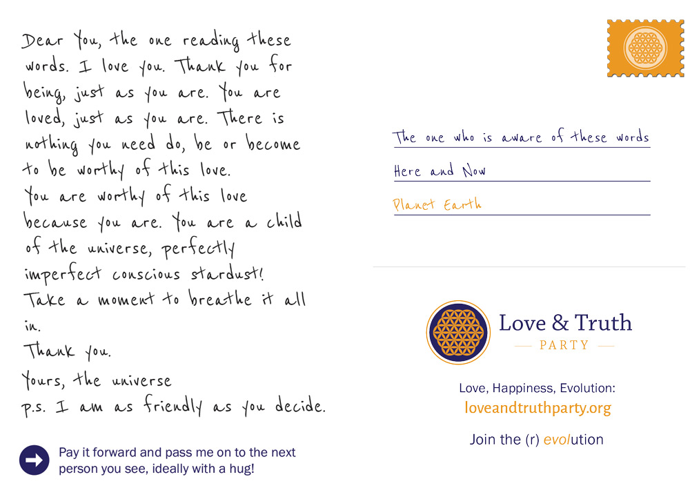 I Love You Letter from loveandtruthparty.org